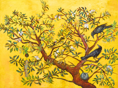 Kim Osgood (b. 1955)  In the Apple Tree: Promising Solutions in the Springtime, 2020