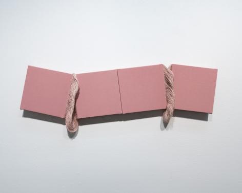 Ko Kirk Yamahira (Born: 1976, Los Angeles, CA)  Untitled RL037 (Four small pink squares), 2021