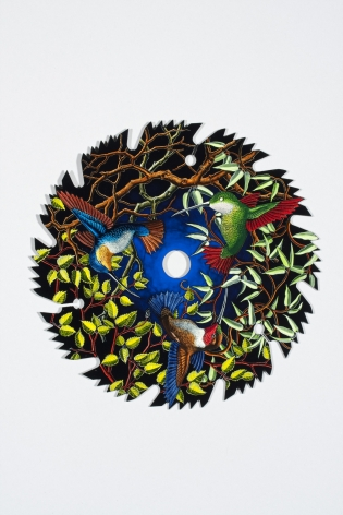 Untitled LR239 (tree branches, birds on saw blade)