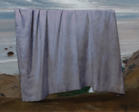 Untitled (white drape and sea)