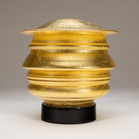Richard Notkin - Profilo Continuo del Trumpolini (gold leaf)