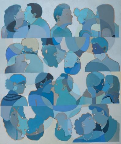 Dan Gluibizzi  eight couples kissing, 2021