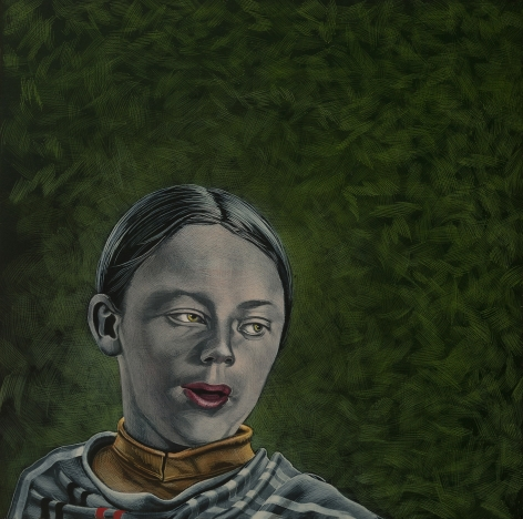 Stotik - red lips green background