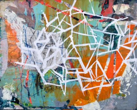 Audrey Tulimiero Welch  Orange/White Grid, 2021