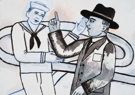 Fay Jones (b. 1936)  Friendly Rivals