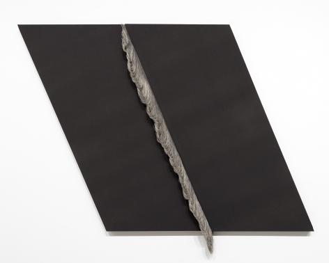 Ko Kirk Yamahira (Born: 1976, Los Angeles, CA)  Untitled RL044 (Black slant left), 2021