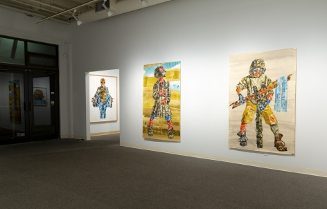 J.D. Perkin | Screen Printed Paper Constructions | Russo Lee Gallery | October 2018 | Installation View_03