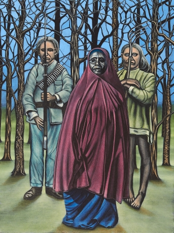 Eric Stotik (b. 1963)  Untitled LR353 (redcoat in forest), 2020