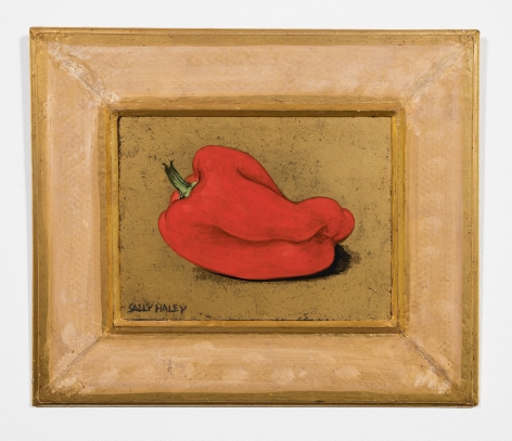 Sally Haley (1908-2007)  Untitled (red pepper on gold)