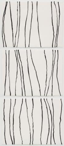 Brenda Mallory  Warm Lines (triptych), 2014