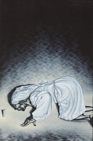 Eric Stotik (b. 1963)  Untitled LR355 (figure in white), 2020
