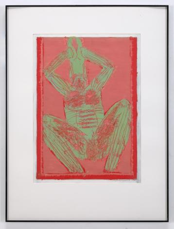 Michael Spafford (b. 1935)  Cronus #3, 1995  oil on paper