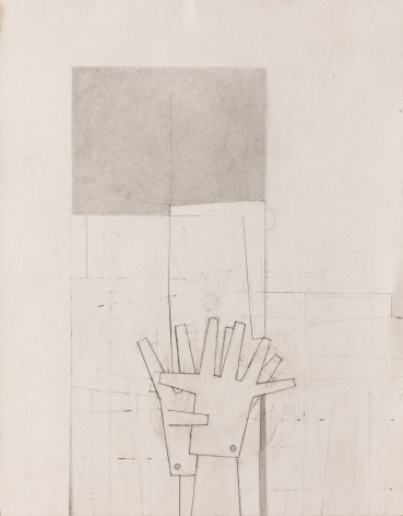 Gina Wilson (b. 1955)  Grey Line Hands, 2021