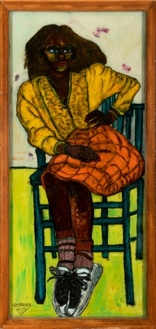 Gregory Grenon (b. 1948)  Ain't Nothing Free in this World, 2020  oil on double glazed glass