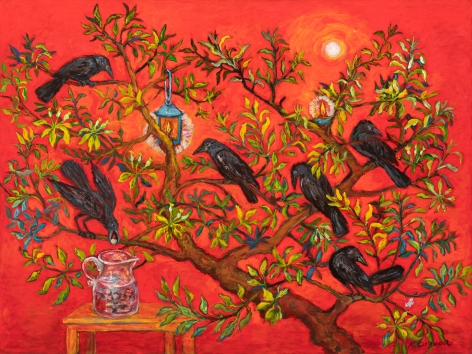 Kim Osgood (b. 1955)  In the Apple Tree: The Crow and Pitcher, 2020