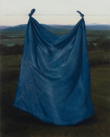 Untitled (suspended blue drape)
