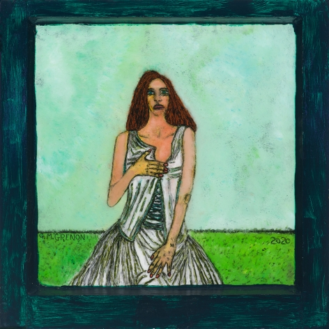 Gregory Grenon (b. 1948)  Lady Indeed, 2020  oil on glass