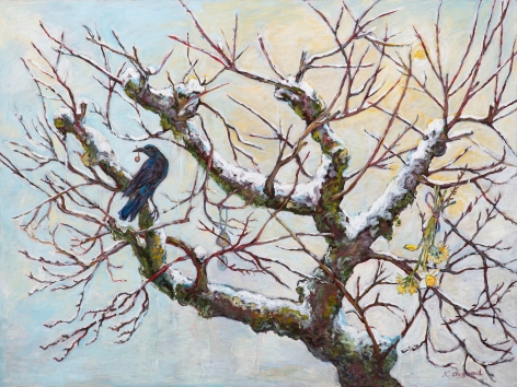 Kim Osgood (b. 1955)  In the Apple Tree: Spring Thaw, 2021