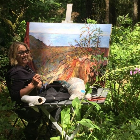 Kim Osgood working en plein air