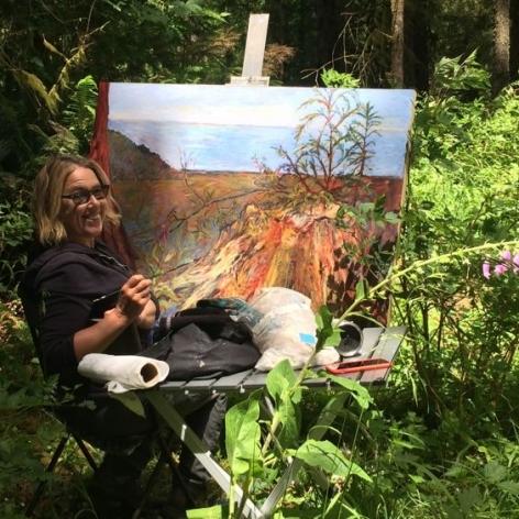 Kim Osgood working en plein air