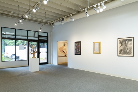 Early Northwest Artists - Installation View - June 2019 - Carl Morris, Louis Bunce, Michele Russo, Sally Haley, Manuel Izquierdo - view 06