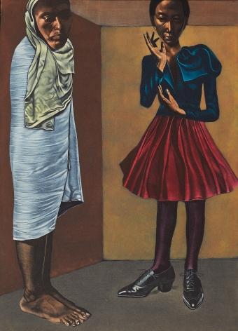 Eric Stotik (b. 1963)  Untitled LR369 (two figures in a corner), 2020