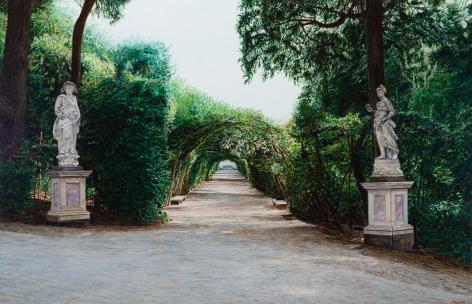 Tom Fawkes (b. 1941)  Boboli - Viale dei Cipressi II, 2020
