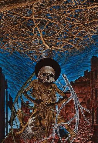Eric Stotik - Untitled LR370 (skull and sticks) - 2020