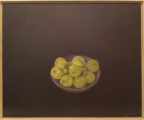 Haley - Green Apples on Black