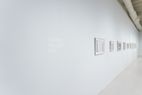 Gina Wilson - teeter taught her - September 2–October 2, 2021 - Russo Lee Gallery - Installation View 01