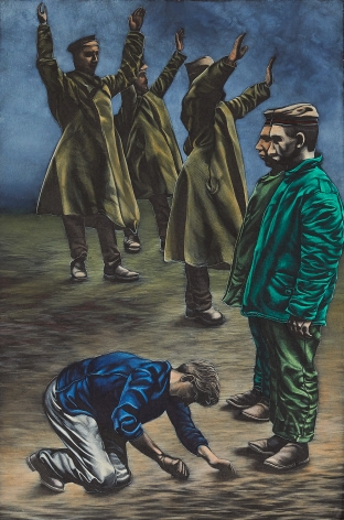 Eric Stotik (b. 1963)  Untitled LR356 (figures in green), 2020