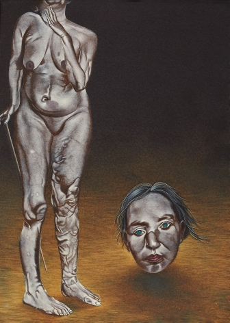 Eric Stotik (b. 1963)  Untitled LR364 (disabled figure with head), 2020