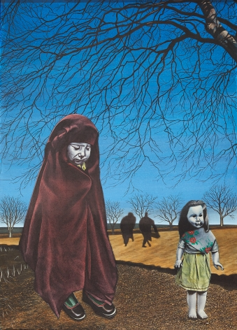 Eric Stotik (b. 1963)  Untitled LR360 (two children in foreground), 2020