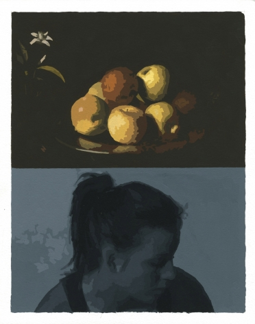 Cain - grey figure with Zurburan still life