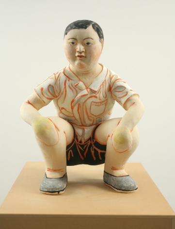 Takamori - squatting boy view 1