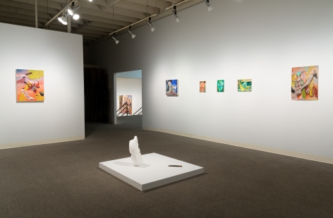 Drinking the Reflection-curated by Elizabeth Malaska-Russo Lee Gallery-Portland-november 2019-Installation view 01