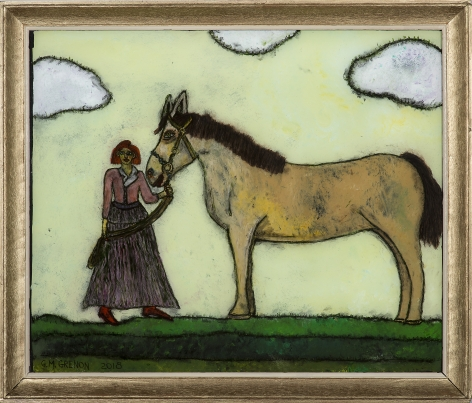 Grenon - Standw with Horse
