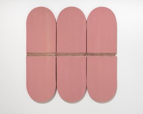 Ko Kirk Yamahira (Born: 1976, Los Angeles, CA)  Untitled RL046 (three pink vertical ovals), 2021