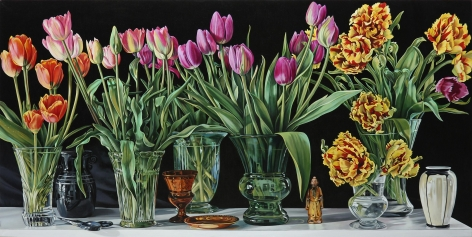 Wolf - Tulips Still life with figure