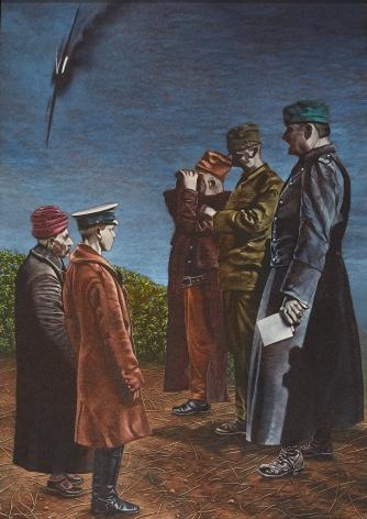 Eric Stotik (b. 1963)  Untitled LR365 (five military men), 2020