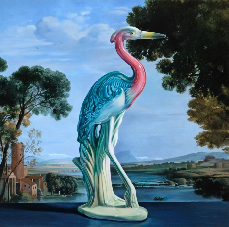 Wolf - Heron with Claude Landscape