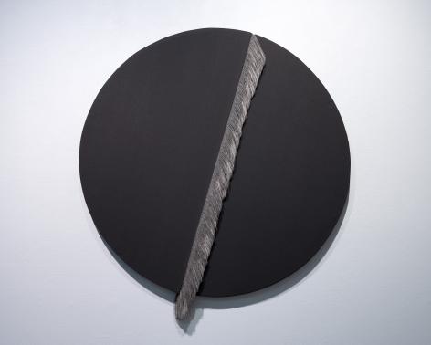 Ko Kirk Yamahira (Born: 1976, Los Angeles, CA)  Untitled RL042 (Black circle split), 2021