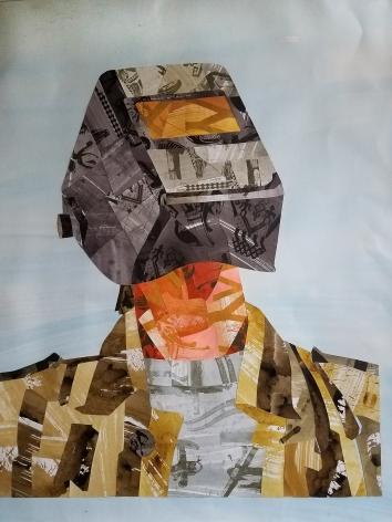 Perkin - Helmeted Bust Yellow Coat