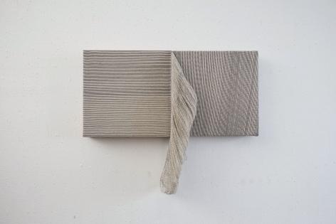 Ko Kirk Yamahira (Born: 1976, Los Angeles, CA)  Untitled RL035 (small double square, black and white), 2020