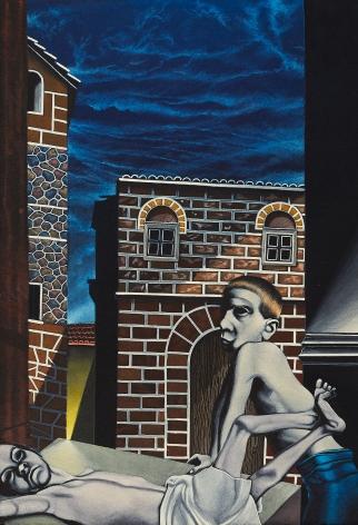 Eric Stotik (b. 1963)  Untitled LR354 (two figures with brick), 2020