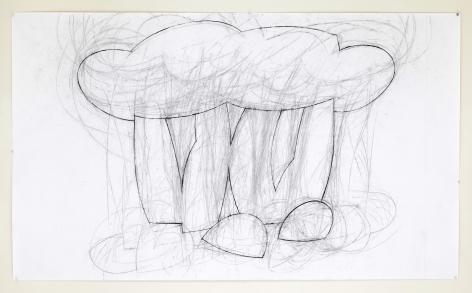 Mel Katz - Shrubbery Drawing