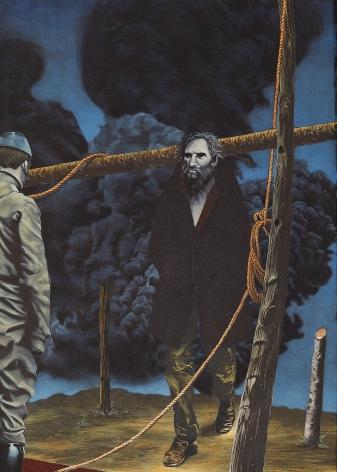 Eric Stotik (b. 1963)  Untitled LR368 (two figures into smoke), 2020