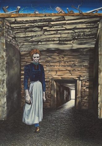 Eric Stotik (b. 1963)  Untitled LR362 (woman in passageway), 2020