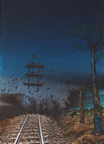 Eric Stotik (b. 1963)  Untitled LR363 (explosion on railroad), 2020