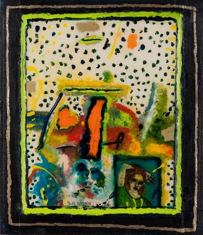 Gregory Grenon (b. 1948)  Murmur, 2020  oil on Plexiglas
